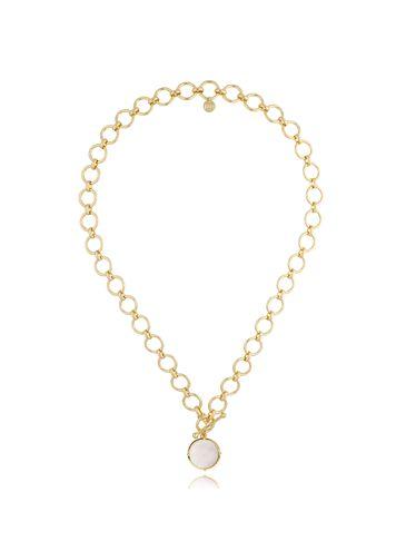 Naszyjnik złoty z perłową zawieszką NTO0001