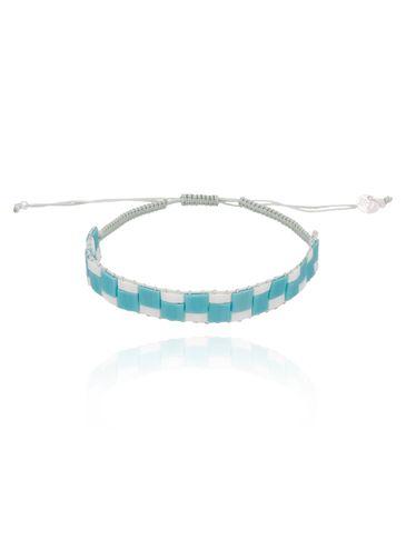 Bransoletka niebiesko biała BLB0018