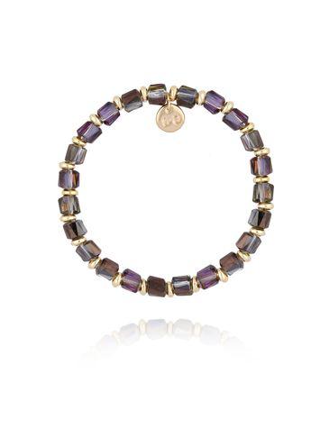 Bransoletka z szarymi połyskującymi kryształkami BBL0159