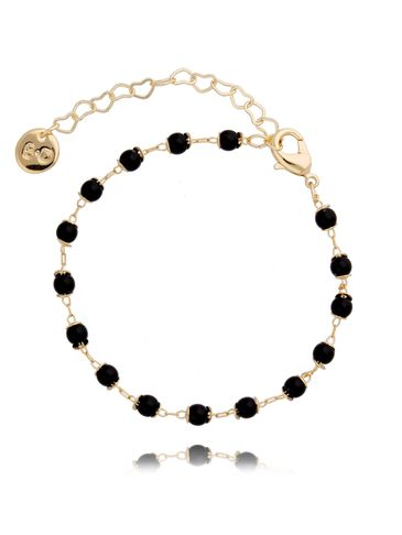 Bransoletka z  czarnych kryształków  BOA0003