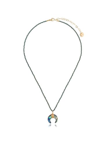 Naszyjnik z kryształkami i księżycem NPA0286