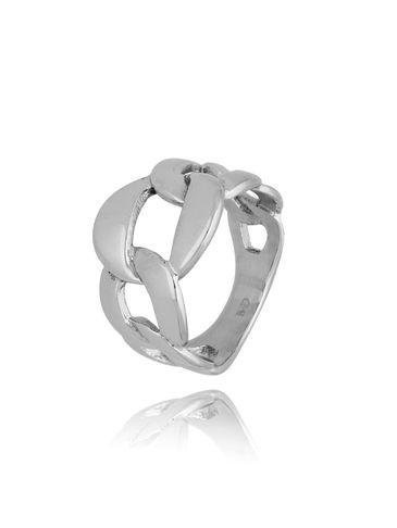 Pierścionek srebrny ze stali szlachetnej Scarlett PSA0185 rozmiar 15