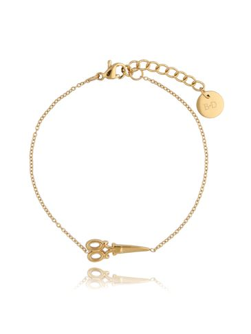 Bransoletka złota ze stali szlachetnej z nożyczkami BSA0120
