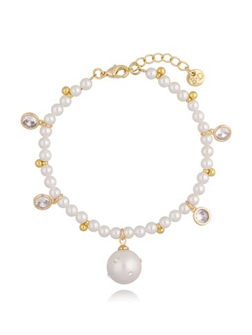 Bransoletka złota z perełkami BPE0036