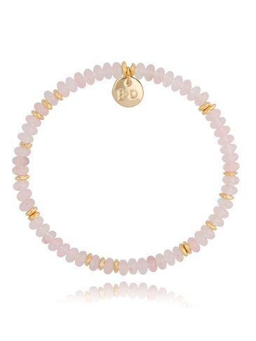 Bransoletka z różowymi kwarcami różowo-złota Isabel BPA0127