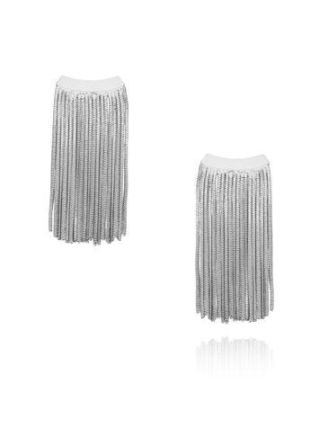 Kolczyki srebrne łańcuszki KRG0536