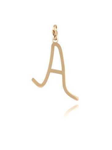 Zawieszka ze stali szlachetnej złota literka A Alphabet NAT0049