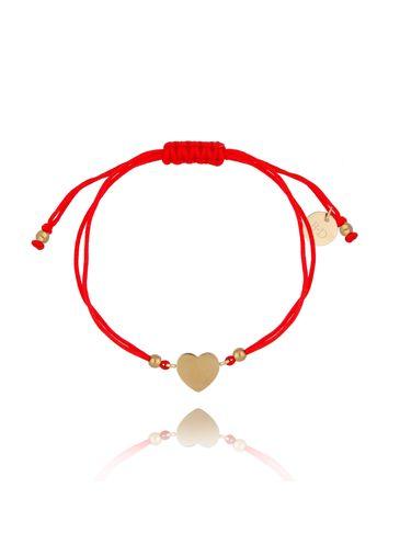 Bransoletka na czerwonym sznurku z sercem BGL0459