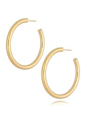 Kolczyki złote koła dmuchane KSA0179 45 mm