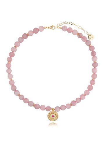 Naszyjnik z kwarcem różowym NPA0238