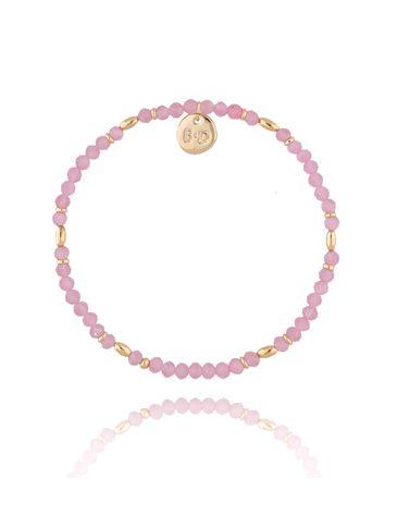 Bransoletka różowa z kwarcem BTW0327