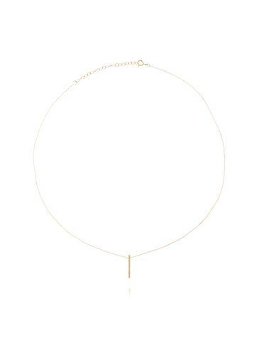 Naszyjnik srebrny pozłacany z patyczkiem NSE0069