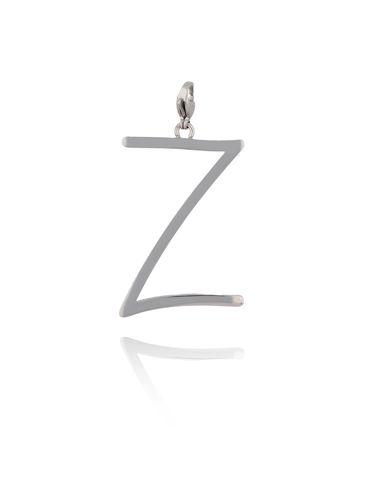 Zawieszka ze stali szlachetnej srebrna literka Z Alphabet NAT0048