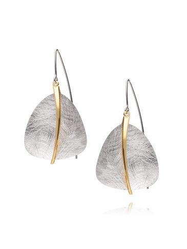 Kolczyki srebrne szczotkowane KLE0017