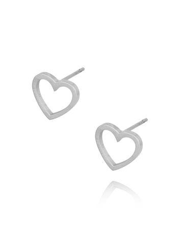 Kolczyki srebrne serduszka ze stali szlachetnej KSA0093
