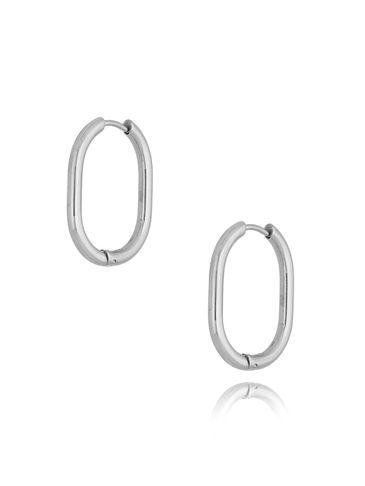 Kolczyki srebrne owale ze stali szlachetnej KSA0210