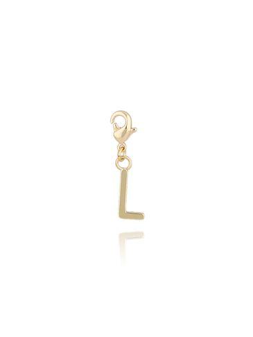 Charms złoty literką L NAT0177
