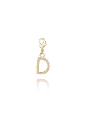 Charms złoty literką D NAT0171