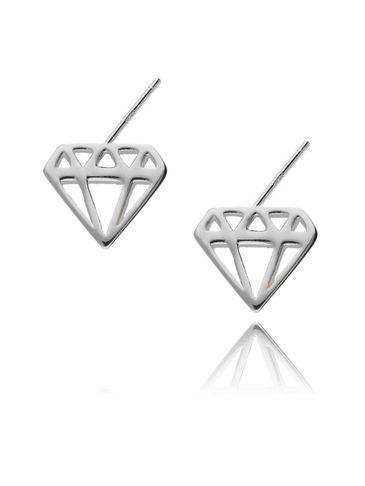 Kolczyki srebrne diamenty KFA0007