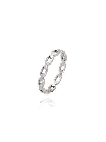 Pierścionek srebrny ze stali szlachetnej PSA0019 Rozmiar 18