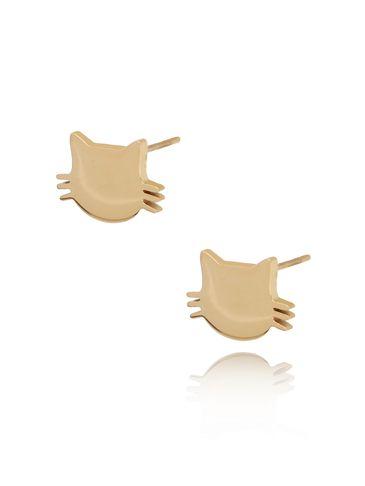 Kolczyki złote kotki ze stali szlachetnej KPS0002
