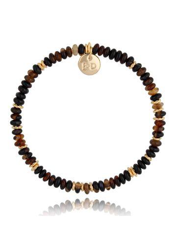 Bransoletka z tygrysim okiem brązowo-złota Isabel BPA0120