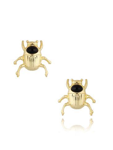 Kolczyki złote z żukami Gold Beetle KMI0180