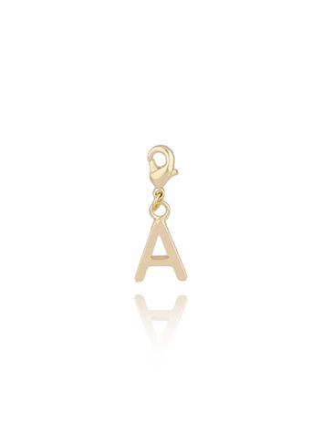 Charms złoty literka A NAT0168