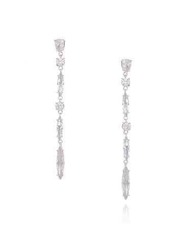 Kolczyki srebrne z transparentnymi kryształkami KSS0809
