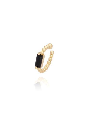 Nausznica z czarnym kryształem KCO0011