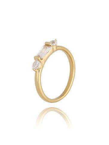 Pierścionek złoty ze stali szlachetnej Monaco PSA0193 rozmiar 10