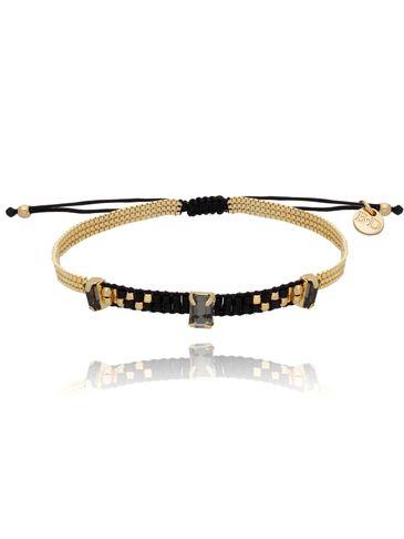 Bransoletka złoto czarna BLB0137