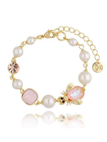 Bransoletka z perłami i owadem BMI0076