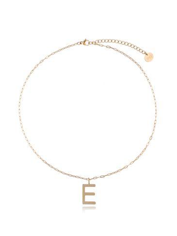 Naszyjnik złoty z literką E NAT0208