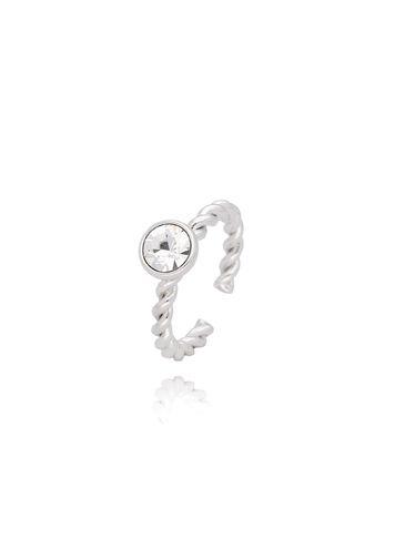 Pierścionek srebrny z przezroczystymi kryształkami PRG0082 rozmiar 13