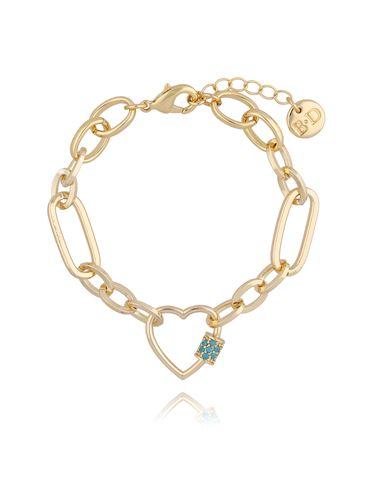 Bransoletka złoty łańcuch z sercem BSL0007