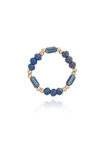 Pierścionek elastyczny z kryształkami PTW0082