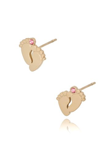 Kolczyki złote stópki ze stali szlachetnej GIRL KSA0253