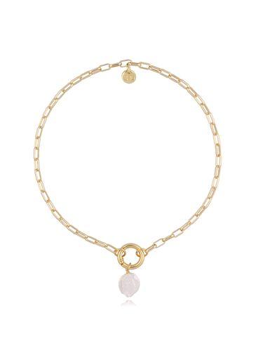 Naszyjnik złoty łańcuch z perłą  NSL0018