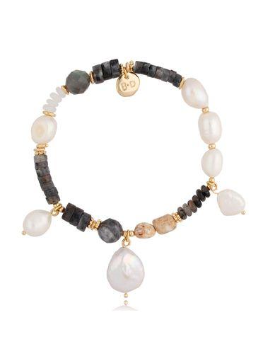 Bransoletka z perłami i labradorytami BPA0063