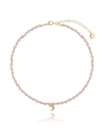 Naszyjnik z różowym kwarcem NTW0093