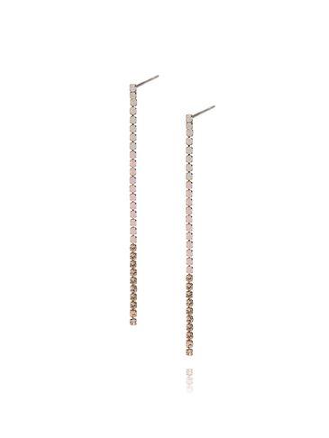 Kolczyki złote z różowymi cyrkoniami KMU0021