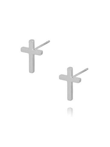 Kolczyki srebrne krzyżyki ze stali szlachetnej KSA0091