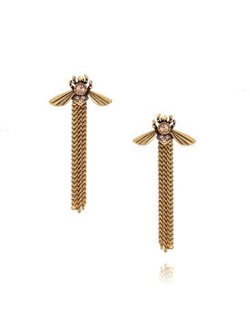 Kolczyki owady z łańcuszkami KMI0106