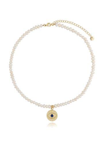 Naszyjnik z perłami i zawieszą z okiem  NLB0029