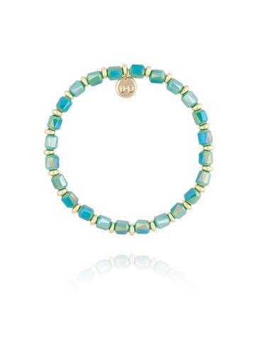 Bransoletka z zielono morskimi kryształkami BBL0167
