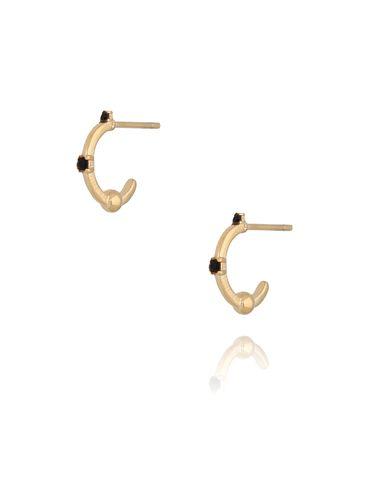 Kolczyki złote z cyrkoniami ze stali szlachetnej KSA0118