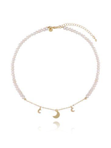 Naszyjnik z perłami i księżycami NLB0016