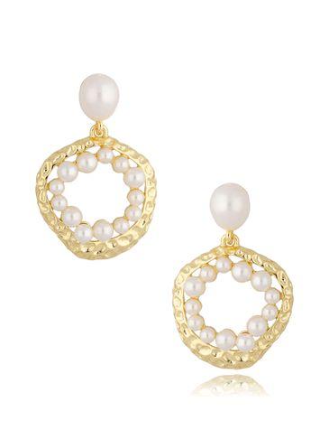 Kolczyki z perłami okrągłe KPE0054