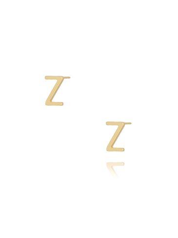 Kolczyki wkrętki z literką Z złote KAT0025